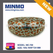 Mingmou glasses manufacture outlet fashion product fashion leopard pattern leather sunglasses case