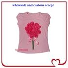 hot pink flower top flower girls fancy pink shirt,kids girl casual wear