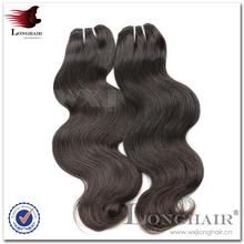 Famous Person Hair Style #1B Color 95-105g brazilian virgin hair body wave 6pcs lot