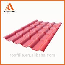 Fangxing hot sale Plastic Spanish Roof Tile,UV-resisitance,Anti-corrosion,Fire resistance