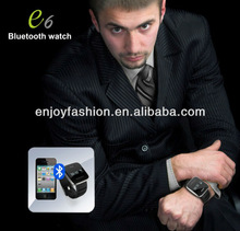 Free shipment Bluetooth Watch with caller name phone number display+dial on the watch+hang up & answer call