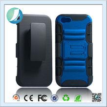 Blue Color belt clip holster 3 in 1 kickstand case for iphone