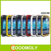 Powerful love mei aluminum phone case aluminum waterproof case for samsung galaxy s4