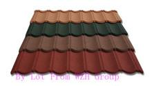 beautilful slate coated metal roof tile / colorful sands metal roofing tile / roofing material for construction