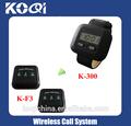 Serviço ao cliente buzzer sistema k- 300+f3 pager de pulso digital 4- o número de dígitos