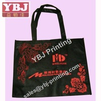 Non-woven bag promotional high quality customized logo print folded non-woven fabric bags
