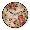 Unique retro design fashion glass flower wall clock