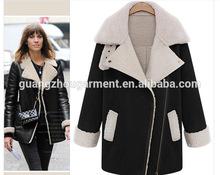 2014 England winter women's Lamb Down long coat jacket warm wool long sleeve coat