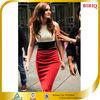 2014 Best Selling White and Red Midi Dress New Design Elegant Cocktails Dress