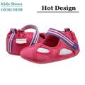 De los niños de los zapatos recién nacido del bebé de las muchachas suavemente suela zapatos de vestir de cuero