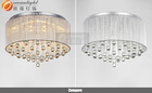 Crystal drop celling light, modern elegant glass shade fixture for luminaire OM7707