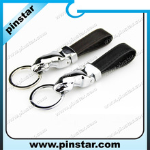 2014 new product China supply promotion gift die casting 3D panther keychain,metal leather keychain