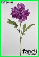 single stem artificial dahlia silk flower purple silk dahlias