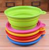 Wholesale FDA LFGB Standard Food grade Eco-friendly folding silicone feeder bowl for dog