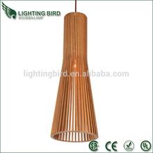 2014 hot sale ul ce saa wood pendant light led hanging lights color change
