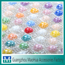 Newwest design rhinestone hot fixed mesh for garment accessories