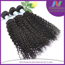 body wavy kinky curly Newness hair thick ends unprocessed short curly hair weaves