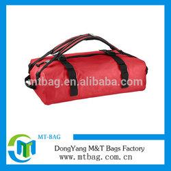 Fashion durable red waterproof travel duffel bag