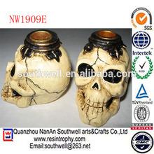 wholesale custom Halloween decoration resin halloween skulls