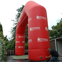 Red Giant Inflatable Advertising Arch , Inflatable Entrance Arch Event