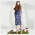 personalizado 2014 nuevo diseño de la impresión digital de cercanías de traje de falda