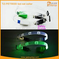 Hot sale light up led cat collar TZ-PET9000 cat collar led