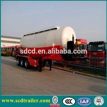 CHINA competitive price 60t 3 axles bulk cement trailers for sale / tri-axle bulk cement powder tank truck semitrailer