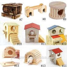 Handmade Wooden hamster toys,wooden hamster cage,hamster wooden house