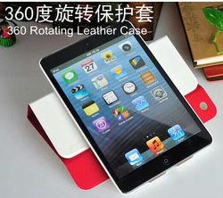 For ipad mini2 case 360 degreen rotation rotating leather case covers for ipad mini 1 2 case