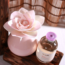 new ceramic vase flower diffuser with pink sola flower
