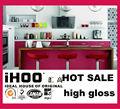 2014 chegada nova avant- garde vermelho design alto brilho armários de cozinha
