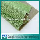 24*40cm hot fix peridot color rhinestone mesh diamond wrap roll