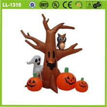 8 feet air blown inflatable ghost tree lighted halloween