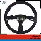 Black OMP black suede red stitching car steering wheel