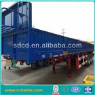 3 axles cover side bulk cargo trailer loading 50ton load side wall van cargo trailer