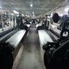 wholesale grey farbic/ cheap price 1CM stripe sateen fabric for hotel bedding set