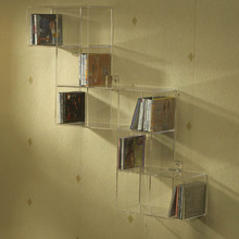 2014 New Design!Clear Acrylic Wall Mounted Acrylic Book Shelf