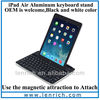 LBK174 New Hot Style Bluetooth Keyboard For iPad 5, For iPad Air Ultra Slim Wireless Keyboard With High aluminum body holder