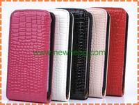 New Design Wholesales Crocodile Grain Leather Case For iPhone5