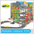 Novas crianças de produtos de plástico parque de diversões brinquedos com 2 Die Cast carro e caixa de música