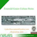 Pedra da cultura natural/esmeralda telhas de mármore verde/revestimento da parede para a decoração exterior