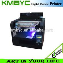 A3 size/multifuncion/ceramic/glass/metal/uv flatbed inkjet printer white ink