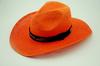 XXL orange cowboy hats to decorate