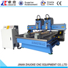 2 Heads 2 Rotary Axis Flat Cylinder Wood Engraving Machine CNC Router DSP A18 4 Axis System ZK-1325