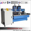2 Heads 2 Rotary Axis Flat Cylinder Relief Engraving Machine CNC Router DSP A18 4 Axis System ZK-1325