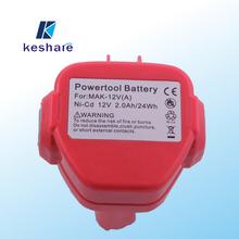NI-CD/NI-MH 12v replacement power tools batteries for makita 1222