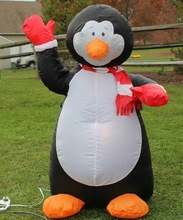 lovely inflatable penguin toy for kids