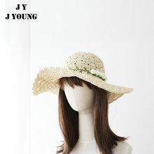 China supplier new paper ladies floppy wide wholesale wedding straw hat