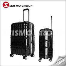 businessman luggage trolley aluminum luggage carry case