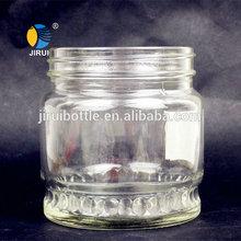 400ml screw cap herb storage glass jar with lid